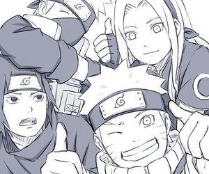 sakura, naruto, and sasuke image