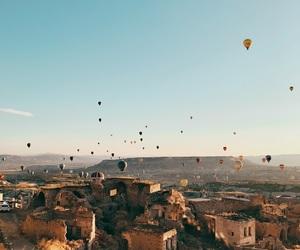 cappadocia, hotairballoon, and turkey image