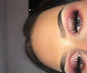 makeup, lashes, and make image