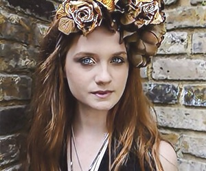 bonnie wright, flowers, and ginny weasley image