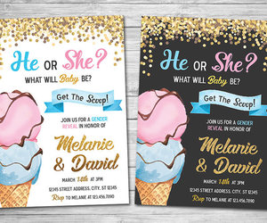 etsy, baby shower invite, and ice cream party image
