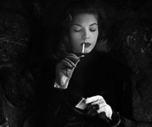 Lauren Bacall, cigarette, and smoke image