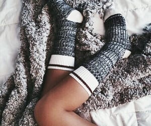 socks, cozy, and style image