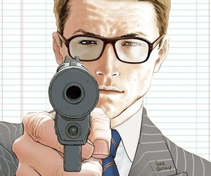 glasses, gun, and handsome image