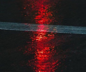 rain, red, and road image