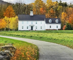 autumn, Houses, and country living image