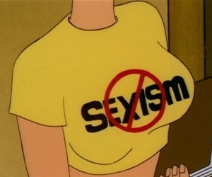 sexism, yellow, and feminism image