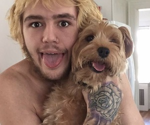lil peep, dog, and goth image