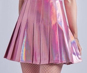 fashion, aesthetic skirt, and holographic image