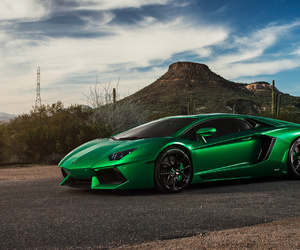 green, Lamborghini, and aventador image