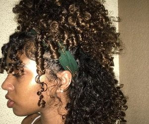 black girl, curly hair, and melanin image