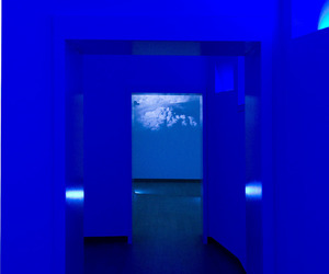 aesthetic, blue, and installation image