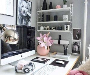 home, Blanc, and Bureau image
