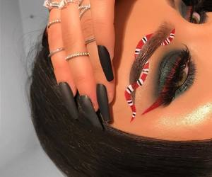 makeup, gucci, and nails image