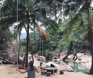 palmtrees, paradise, and Vietnam image