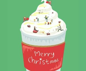 background, christmas, and cup image