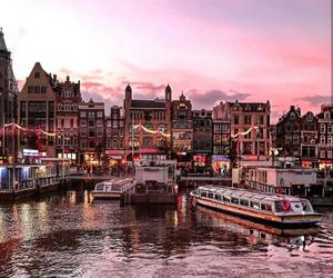 beautiful, amsterdam, and pink image