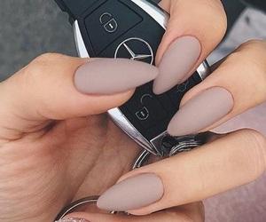 mercedes benz, nail polish, and nails image