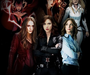 black widow, Marvel, and scarlet witch image
