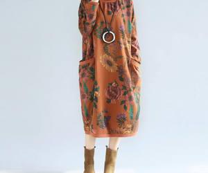 etsy, long dress, and bottoming dress image