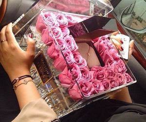 box, gift, and roses image