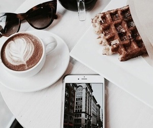 coffee, breakfast, and sunglasses image