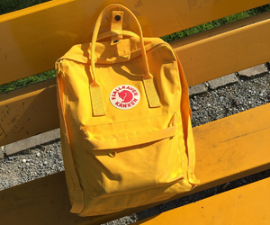 yellow, bag, and cute image
