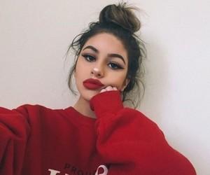 makeup, red, and didargh image