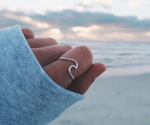 ring, ocean, and beach image