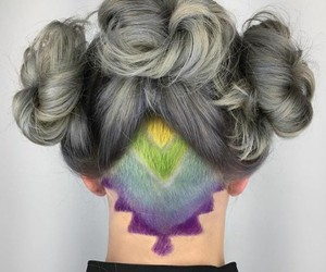 colors, hairstyle, and dyed hair image