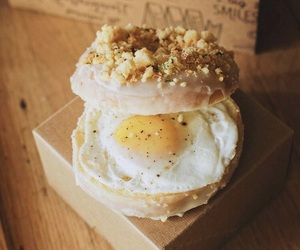 donut, egg, and salty image