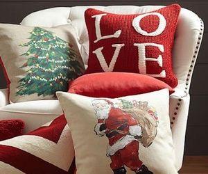 christmas, winter, and pillow image