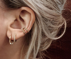 constellation, earrings, and hoop earrings image