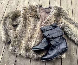 fake fur, fashion, and vintage image