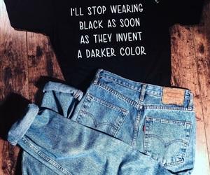 black, fashion, and levi's image