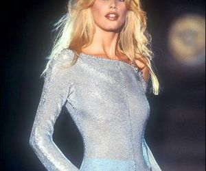 model, Claudia Schiffer, and 90s image