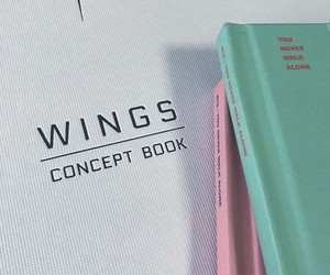 bts, wings, and aesthetic image