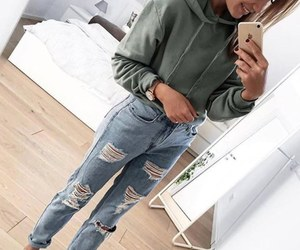 fashion, indie, and jeans image