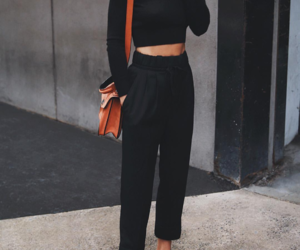 fashion, black, and chic image