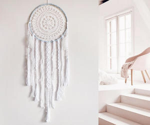 blue, bohemian, and dream catcher image