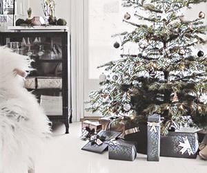 bows, christmas, and christmas tree image