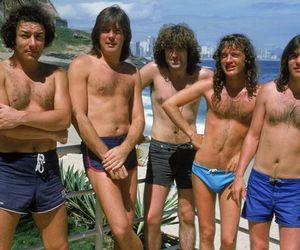 ACDC, angus young, and cliff williams image