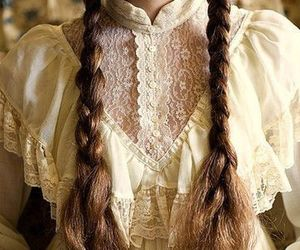 hair, braid, and lace image