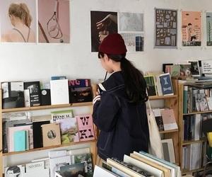girl, book, and ulzzang image