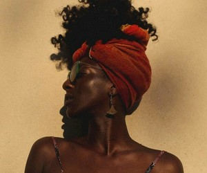 Afro, black woman, and beauty image