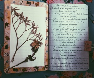 alternative, flowers, and journal image
