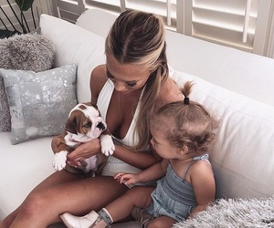 dog, family, and daughter image