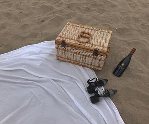 beach and wine image