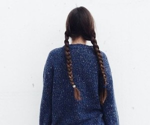 aesthetic, blue, and hair image