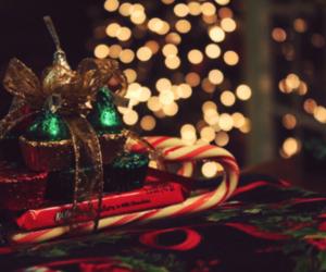 bokeh, christmas, and christmas tree image